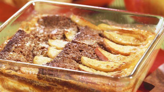 Rezept: Apfel-Honigkuchenauflauf
