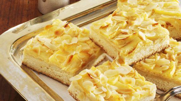 Rezept: Apfel-Käsekuchen mit Mandeln