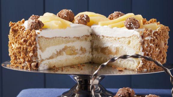 Rezept: Apfel-Mascarpone-Torte