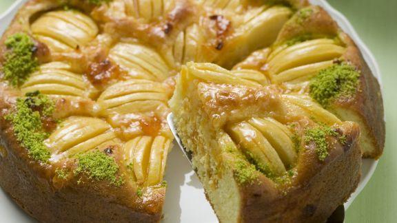 Rezept: Apfel-Pistazien-Kuchen