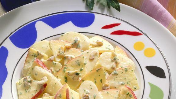 Rezept: Apfel-Rettichsalat mit Joghurtdressing