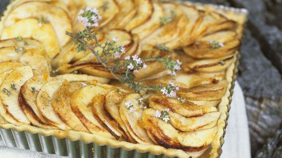 Rezept: Apfel-Thymian-Tarte