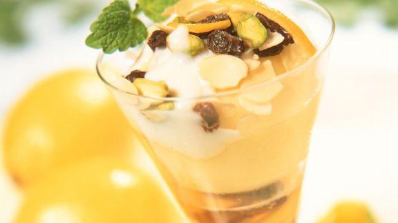 Rezept: Apfelkompott mit Joghurtcreme