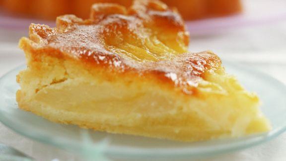 Rezept: Apfelkuchen mit Karamellkruste