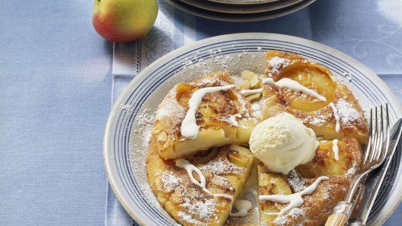 Rezept: Apfelpfannkuchen mit Eis