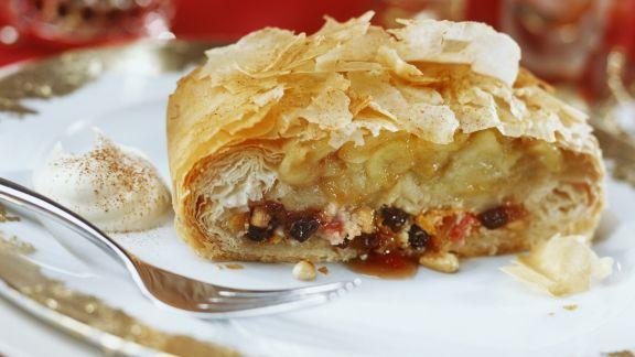 Rezept: Apfelstrudel mit Marzipan