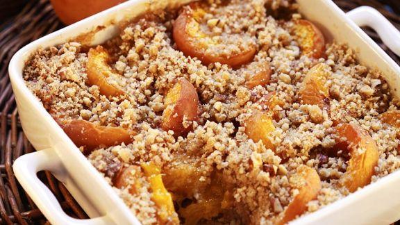 Rezept: Aprikosen-Crumble