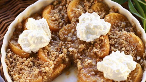 Rezept: Aprikosenauflauf mit Streuseln (Crumble)
