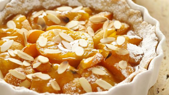 Rezept: Aprikosentarte mit Mandeln