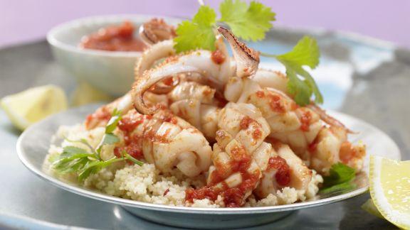 Rezept: Arabische Calamari-Pfanne