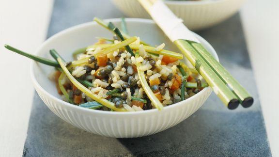 Rezept: Asiatische Reispfanne mit Gemüse