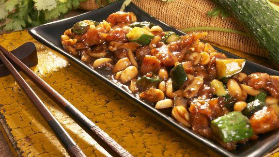Rezept: Asiatisches Hähnchen mit Gemüse