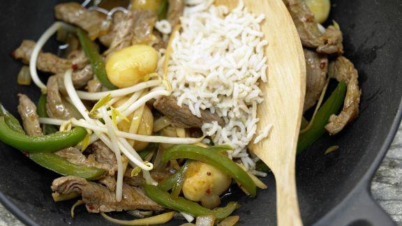 Rezept: Asiatisches Rindfleisch aus dem Wok