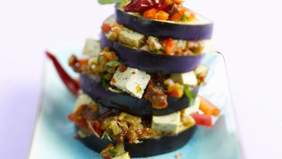 Rezept: Aubergine mit Tofu und Gemüse