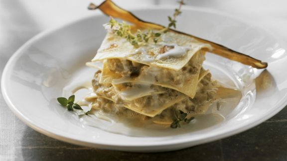 Rezept: Auberginen-Lasagne mit Gorgonzola
