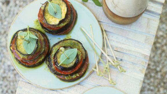 Rezept: Auberginen-Tomaten-Antipasti