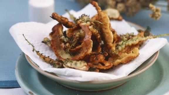 Rezept: Ausgebackene Schafgarbe in Parmesanteighülle