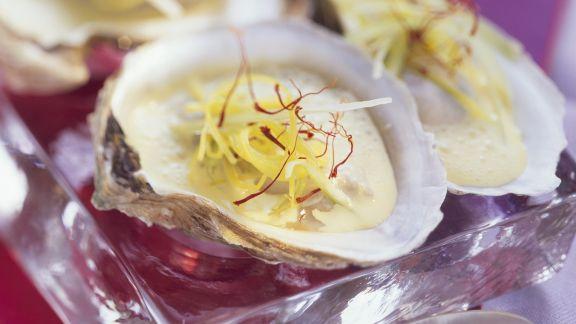 Rezept: Austern mit Porree und Safran