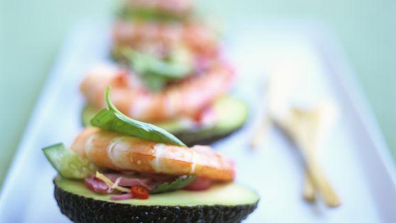 Rezept: Avocado mit Shrimps