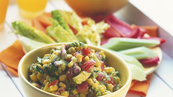 Rezept: Avocadosalat mit Mais