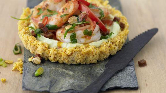 Rezept: Avocadotörtchen mit Garnelen und Chorizo