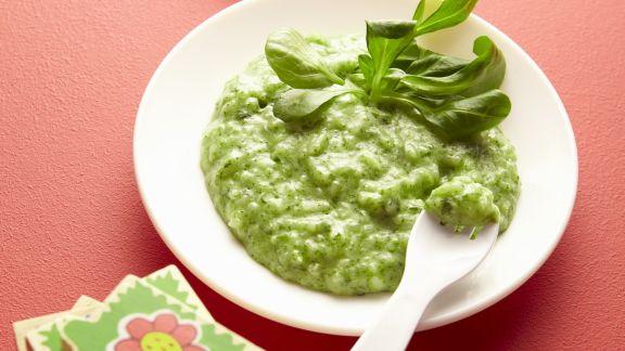 Rezept: Babybrei aus grünem Gemüse