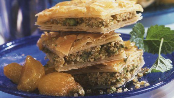 Rezept: Baklava mit Aprikosenkompott