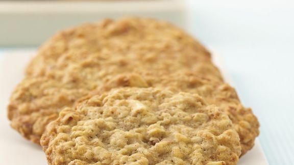 Rezept: Bananen-Cookies mit Nüssen und Haferflocken