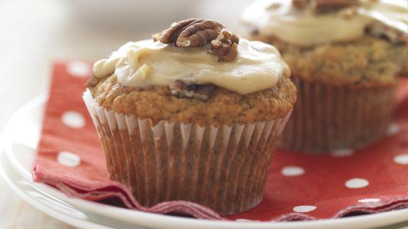 Rezept: Bananen-Karamell-Muffins mit Pekannüssen