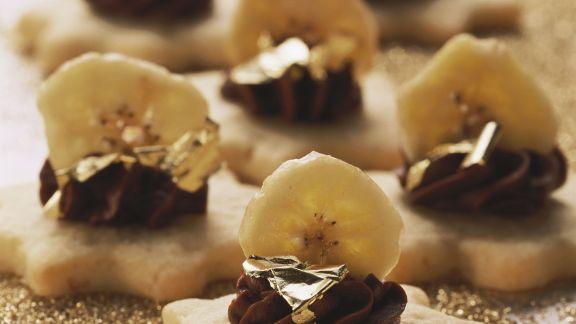 Rezept: Bananen-Schoko-Sterne