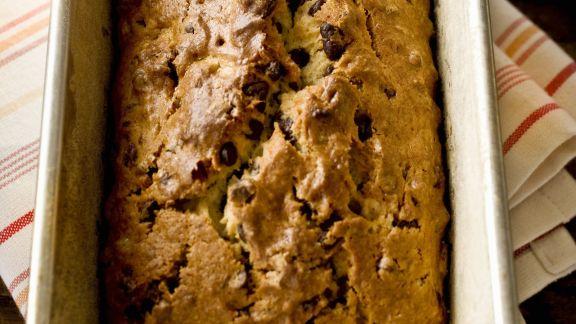 Rezept: Bananenbrot mit Schokoladenstücken