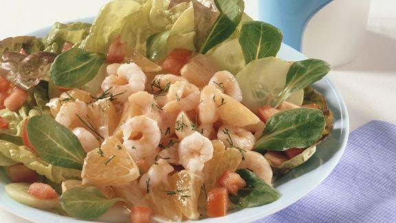 Rezept: Bataviasalat mit Shrimpscocktail