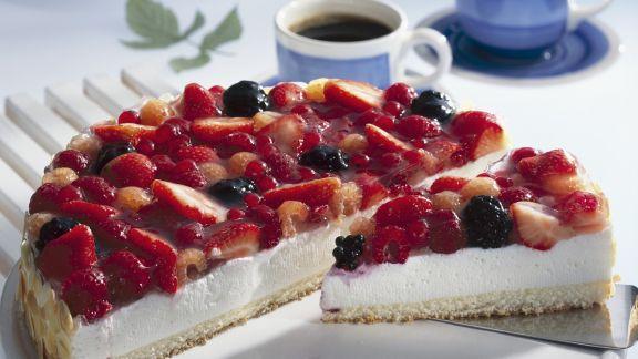 Rezept: Beeren-Quark-Torte