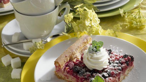 Rezept: Beerenkuchen mit Marzipan