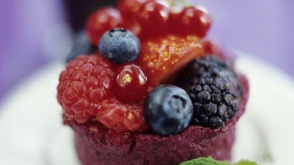 Rezept: Beerenpudding nach englischer Art