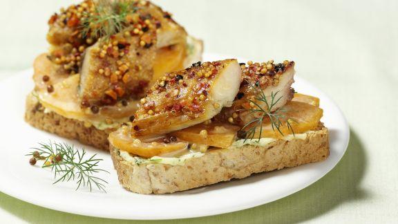 Rezept: Belegtes Brot mit Räuchermakrele