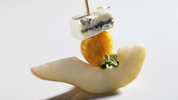 Rezept: Birnen-Käse-Häppchen