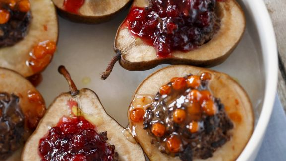 Rezept: Birnen mit Cranberry-Füllung