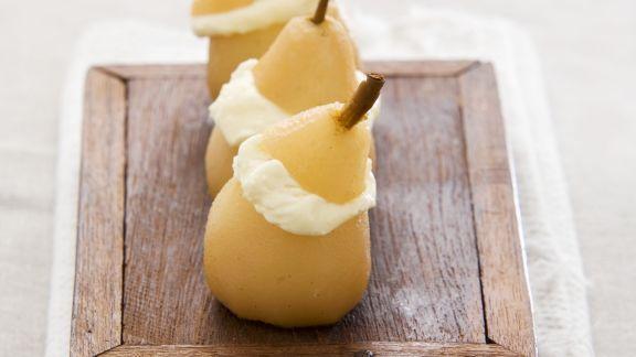 Rezept: Birnen mit eiskalter Camembert-Füllung
