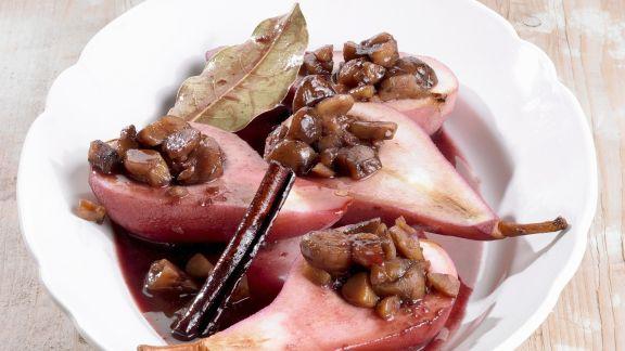 Rezept: Birnen mit Maronifüllung