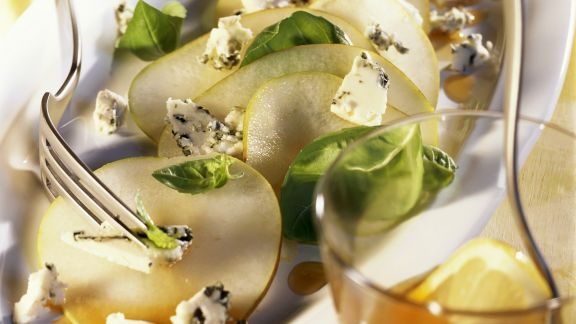 Rezept: Birnen-Roquefort-Carpaccio
