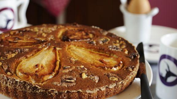 Rezept: Birnen-Walnuss-Kuchen
