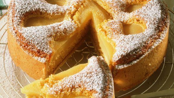 Rezept: Birnenkuchen mit Mandeln