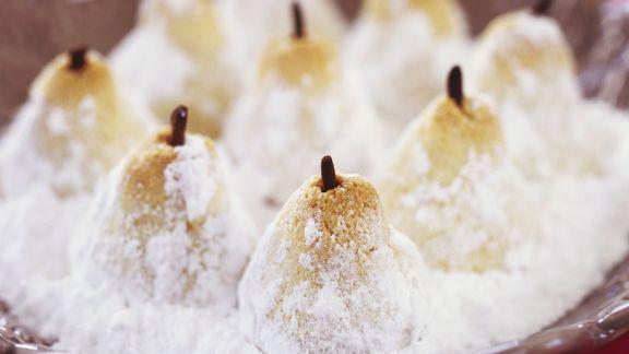 Rezept: Birnenküchlein aus Mandelteig