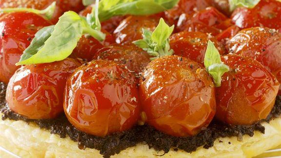 Rezept: Blätterteig-Tomatentarte