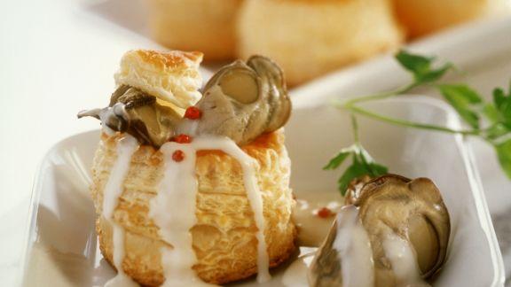 Rezept: Blätterteigpastete mit Austern