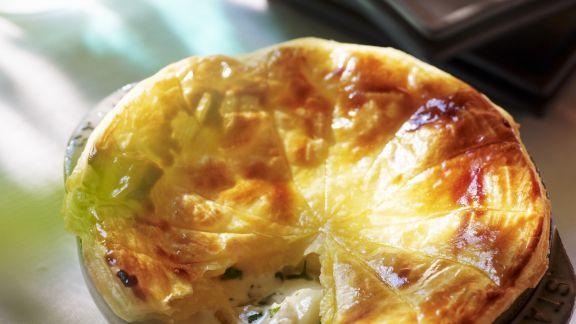 Rezept: Blätterteigtarte mit Kartoffeln und Camembert