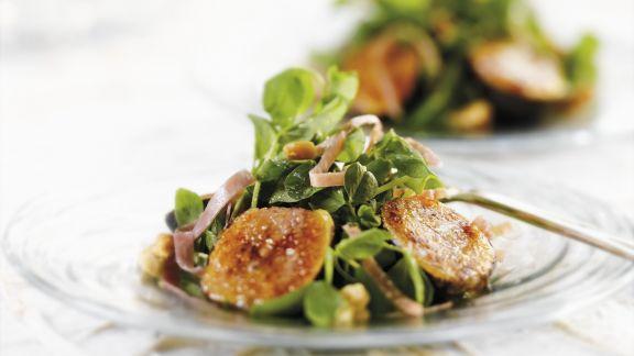Rezept: Blattsalat mit Feigen