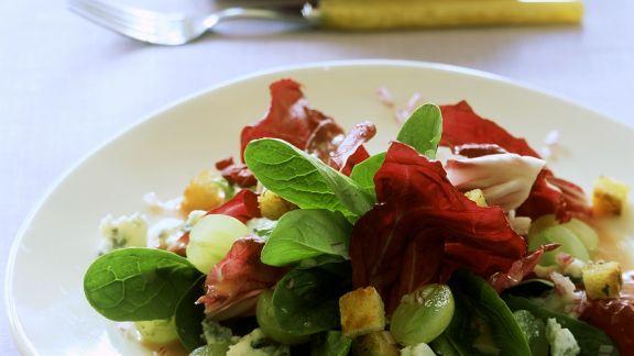 Rezept: Blattsalat mit Trauben