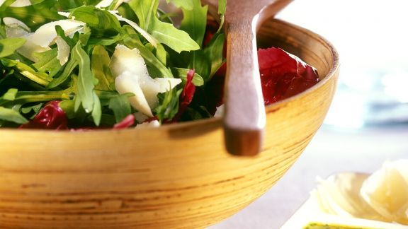 Rezept: Blattsalat mit Zitronendressing